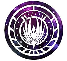 Battlestar Galactica Colonial Seal Purple Photographic Print