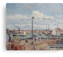 Camille Pissarro - The Pilots  Jetty at Le Havre 1903 French Impressionism Landscape Canvas Print