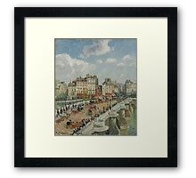 Camille Pissarro - The Pont-Neuf 1902 French Impressionism Landscape Framed Print