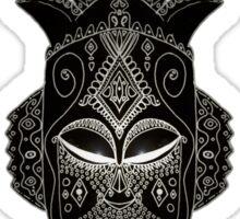 Horned tribal mask Sticker