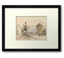 Camille Pissarro - The Road from Versailles to Louveciennes  1872 French Impressionism Landscape Framed Print