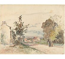 Camille Pissarro - The Road from Versailles to Louveciennes  1872 French Impressionism Landscape Photographic Print