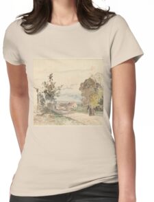 Camille Pissarro - The Road from Versailles to Louveciennes  1872 French Impressionism Landscape Womens Fitted T-Shirt