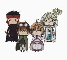 Tsubasa Reservoir Chronicle chibi Kids Tee