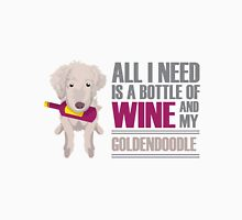 Wine and Goldendoodles Unisex T-Shirt