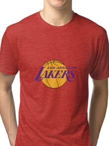 Los Angels Lakers- Logo Tri-blend T-Shirt