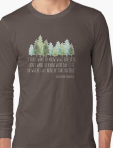 Into the Wild with Christopher McCandless Long Sleeve T-Shirt