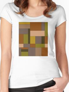 Abstract #370 Women's Fitted Scoop T-Shirt