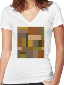 Abstract #370 Women's Fitted V-Neck T-Shirt