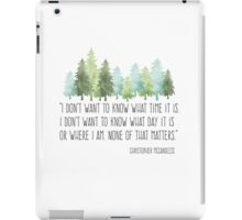 Into the Wild with Christopher McCandless iPad Case/Skin