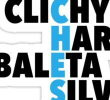 Manchester City spelt using player names Sticker