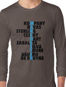 Manchester City spelt using player names Long Sleeve T-Shirt