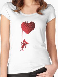 Unravel Yarny Heart Women's Fitted Scoop T-Shirt