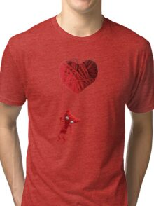 Unravel Yarny Heart Tri-blend T-Shirt