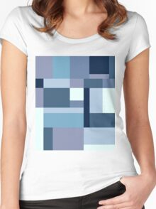 Abstract #387 Blue Harmony Women's Fitted Scoop T-Shirt
