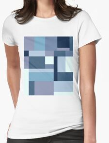 Abstract #387 Blue Harmony Womens Fitted T-Shirt