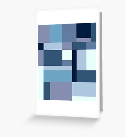 Abstract #387 Blue Harmony Greeting Card
