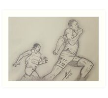 London 2012 Mens 200m Final Art Print