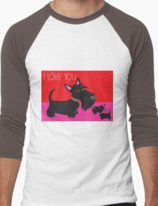 I Love You – Scottie Men's Baseball ¾ T-Shirt