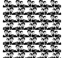 Black and white repeat pattern Photographic Print
