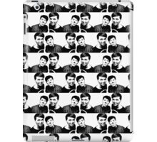Black and white repeat pattern iPad Case/Skin