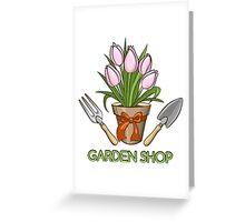 Garden Shop Emblem Greeting Card