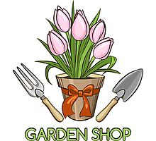 Garden Shop Emblem Photographic Print