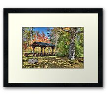 An Autumn Picnic in Maine Framed Print