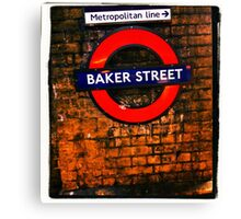 Baker Street London- Sherlock  Canvas Print