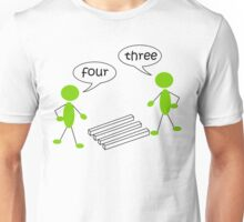 Optical illution Four or Three Unisex T-Shirt