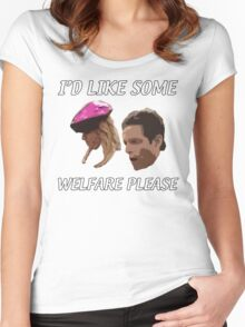 I'd Like Some Welfare Please Women's Fitted Scoop T-Shirt
