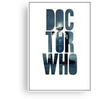 Doctor Who Graphic Design Canvas Print