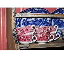 Oldfashioned Tableware - Macro Photography Photographic Print