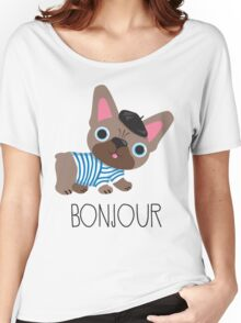 Bonjour little Frenchie! Women's Relaxed Fit T-Shirt