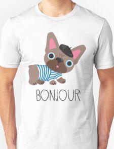 Bonjour little Frenchie! Unisex T-Shirt