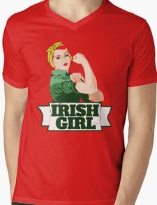 Irish Girl Mens V-Neck T-Shirt