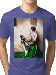 Retro Art - Psychedelic Puppet Tri-blend T-Shirt