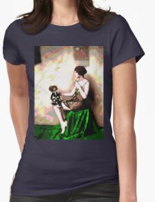 Retro Art - Psychedelic Puppet Womens Fitted T-Shirt