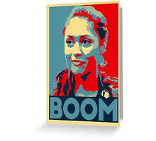 Boom Raven Greeting Card