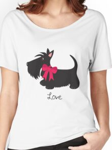 Love Scottie Dog Women's Relaxed Fit T-Shirt