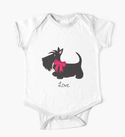Love Scottie Dog One Piece - Short Sleeve