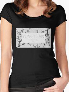 Yung Lean Sakura trees Women's Fitted Scoop T-Shirt