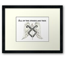 All Of The Stories Are True Framed Print
