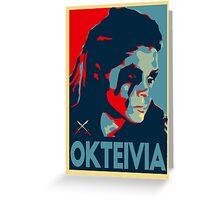 Oktavia Greeting Card