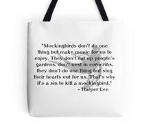 KRW To Kill a Mockingbird Quote Tote Bag