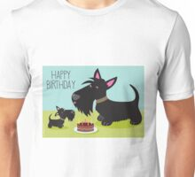 Birthday Cake and Scotties Unisex T-Shirt