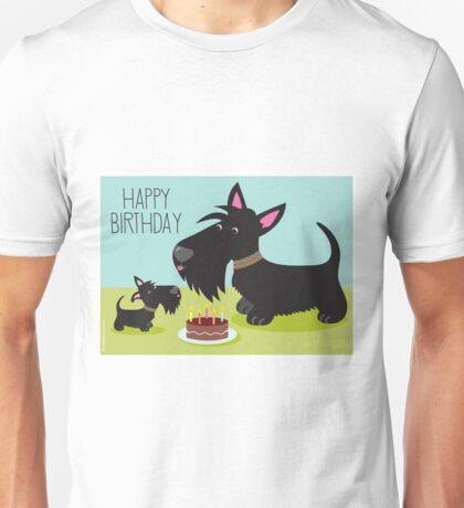 Birthday Cake and Scotties Unisex T-Shirt