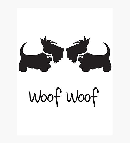 Double Scottie – Woof Woof Photographic Print