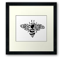 Bee stencil Framed Print