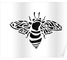 Bee stencil Poster